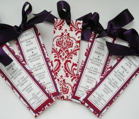 Bookmark the Date Bookmarkers/Favors - Damask Design